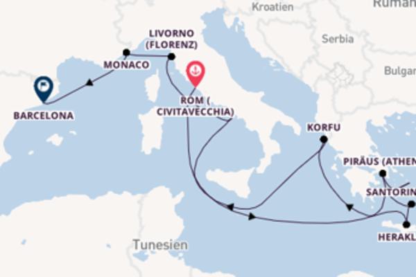 Kreuzfahrt mit der Norwegian Dawn nach Barcelona