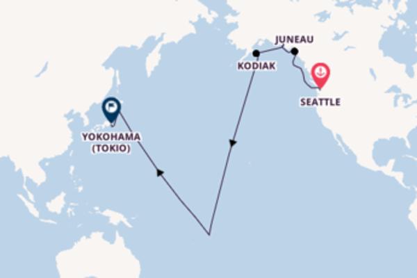 Geniet van een 15-daagse cruise naar Yokohama (Tokio)