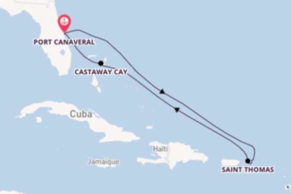 Croisière de 8 jours depuis Port Canaveral avec Disney Cruise Line