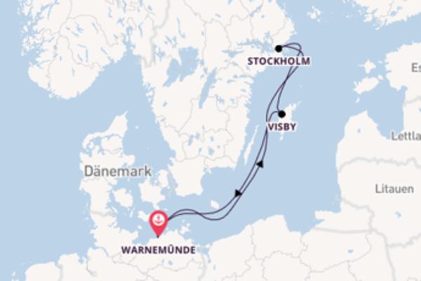 Begeisternde Kreuzfahrt über Stockholm nach Warnemünde