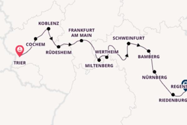 Kreuzfahrt mit der Elegant Lady* nach Regensburg