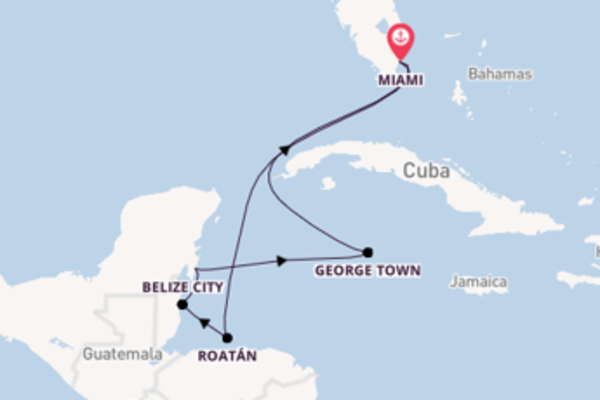 8 day voyage from Miami