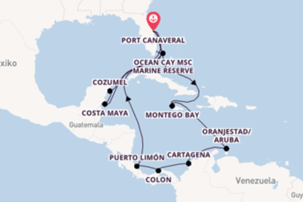 Fantastische Kreuzfahrt über Montego Bay ab Port Canaveral