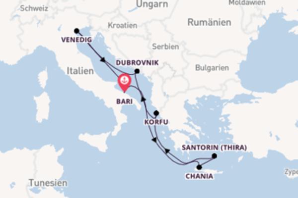 In 8 Tagen nach Bari über Dubrovnik