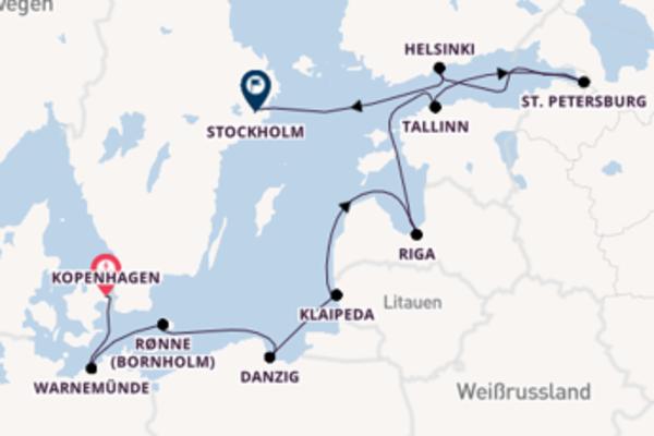Entdecken Sie 11 Tage Klaipeda und Stockholm