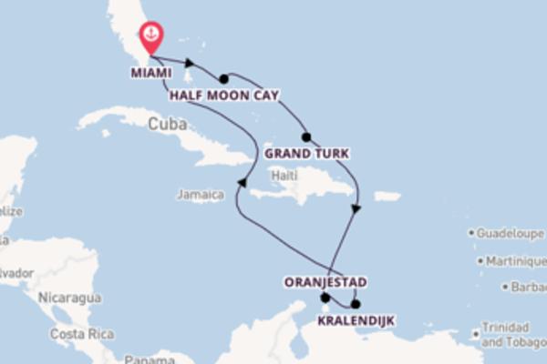9-daagse droomcruise vanuit Miami