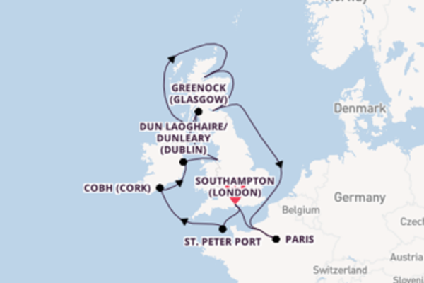 Journey from Southampton (London) with the Emerald Princess