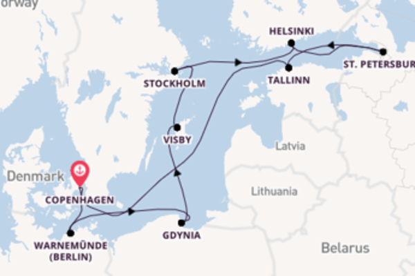 Cruise from Copenhagen with the MSC Musica