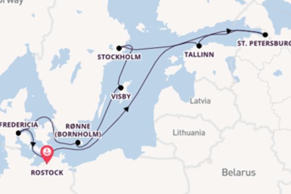 Bewonder Rønne (Bornholm) met AIDA Cruises