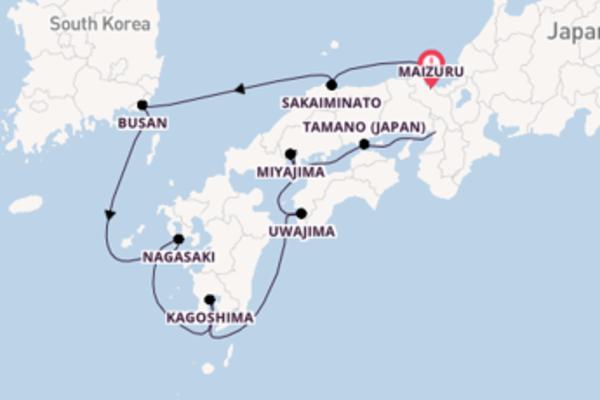 Geniet van een 9-daagse cruise naar Osaka
