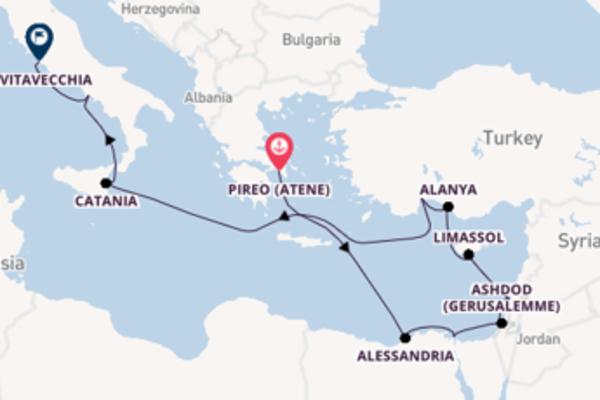 In rotta verso Civitavecchia da Pireo (Atene)