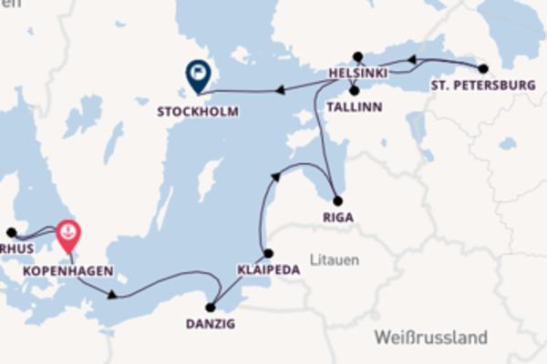 10 Tage unterwegs mit der Norwegian Dawn