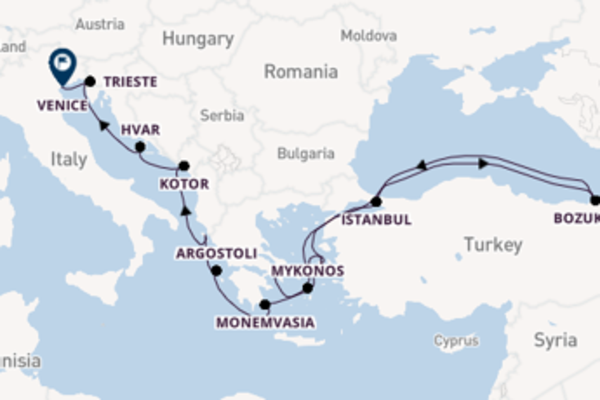 Sailing from Athens (Piraeus) to Venice