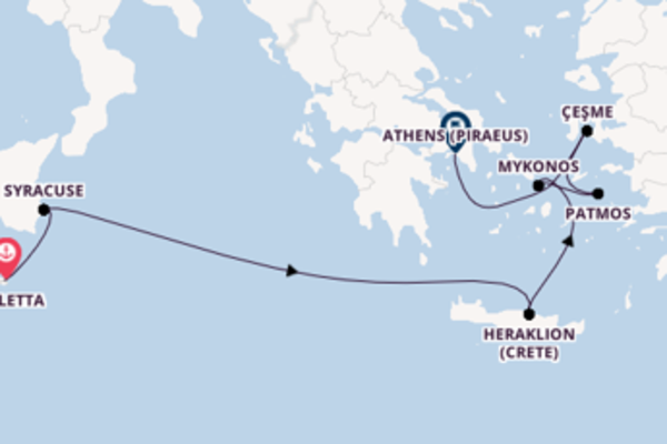 Cruising with Seabourn from Valletta to Athens (Piraeus)