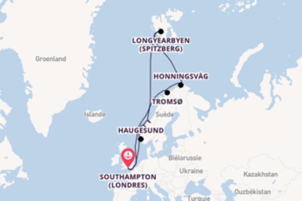 Visitez à bord du bateau Island Princess, la destination: Honningsvåg