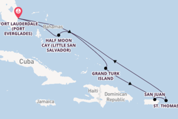 Sail with Holland America Line from Fort Lauderdale