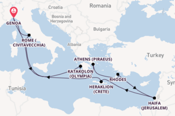 12 day voyage from Genoa