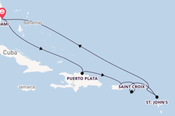 11 day expedition from Miami