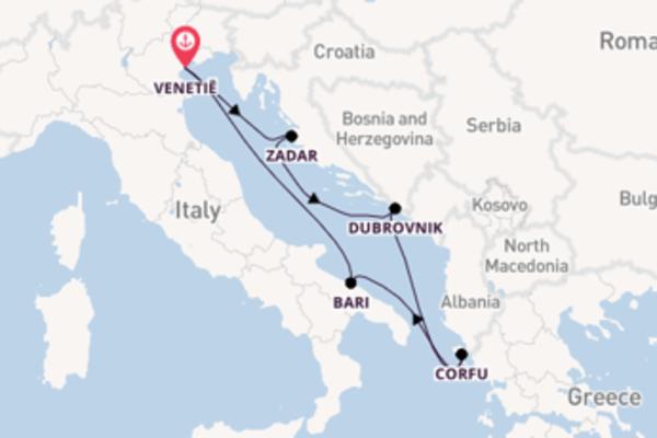 6-daagse cruise met de Costa Deliziosa vanuit Venetië