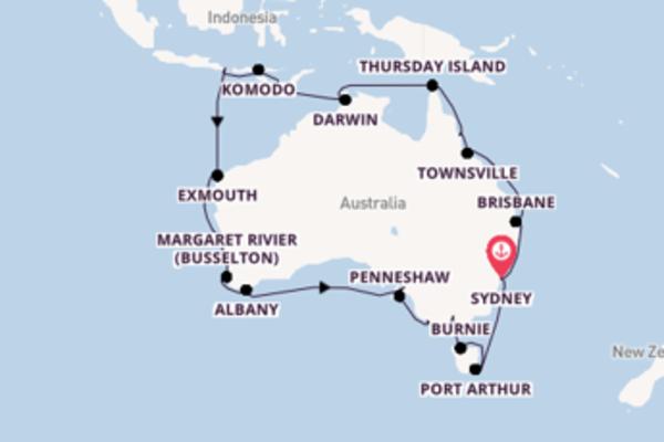 Cruise met Oceania Cruises naar Exmouth