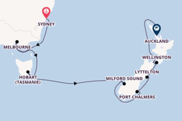 18 jours pour découvrir Port Chalmers au départ de Sydney