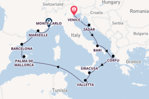 Sailing with Oceania Cruises from Venice to Monte Carlo