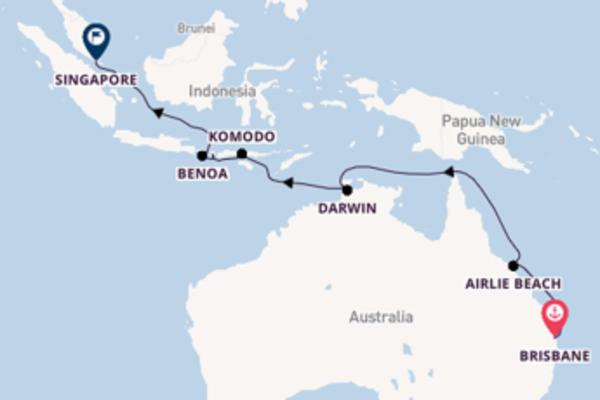 Lasciati conquistare da Brisbane, Komodo e Singapore