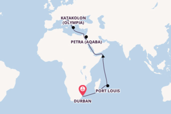 Memorable journey from Durban with MSC Cruises