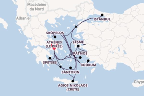 19 jours de navigation à bord du bateau Seabourn Encore vers Athènes (Le Pirée)