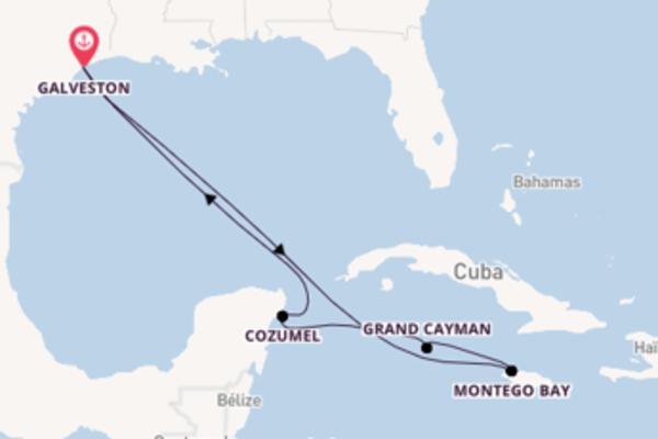 Ile de Grand Cayman depuis Galveston pour une croisière de 8 jours