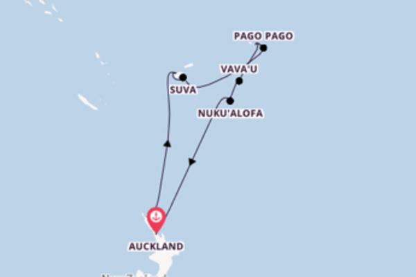 14 giorni verso Auckland passando per Pago Pago