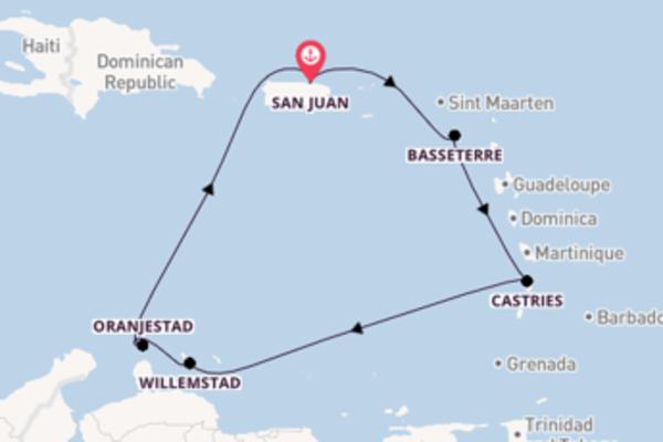 8-daagse droomcruise vanuit San Juan