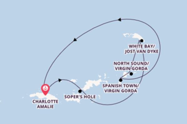 Einmalige Reise ab Charlotte Amalie