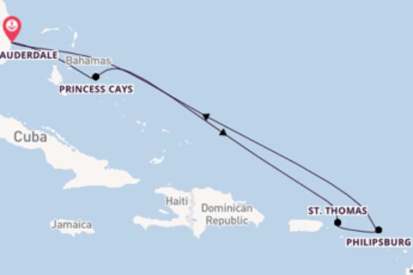 8 giorni verso Fort Lauderdale passando per Princess Cays