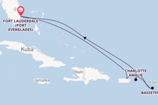 In 8 Tagen nach Fort Lauderdale (Port Everglades) über San Juan