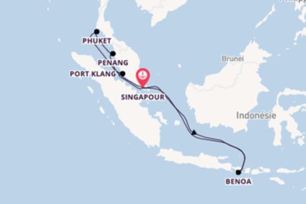11 jours de navigation à bord du bateau Grand Princess depuis Singapour