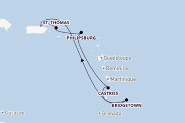 Delightful journey from San Juan with Carnival Cruise Lines