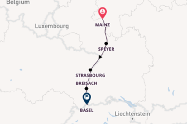 Cruising from Mainz to Basel