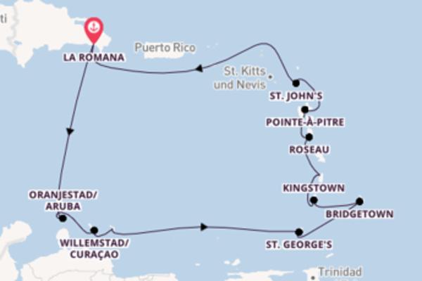 Kreuzfahrt mit der AIDAperla nach La Romana