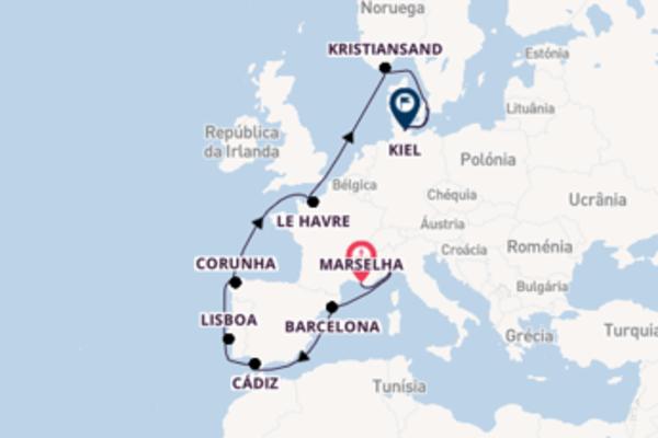 Navegue a bordo do Costa Diadema em 15 dias
