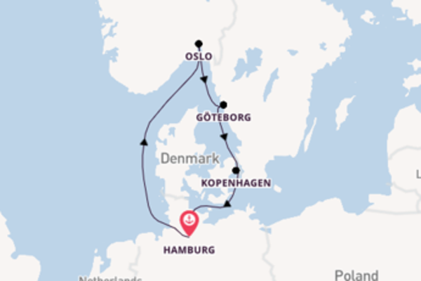 6-daagse cruise naar Göteborg