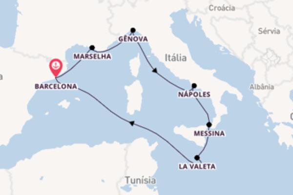 Navegando a bordo do MSC Seashore por 8 dias