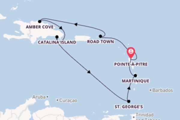 Cruise met Costa Cruises naar het prachtige Pointe-à-Pitre