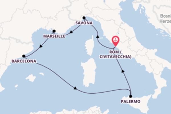 Rom (Civitavecchia) und Savona entdecken