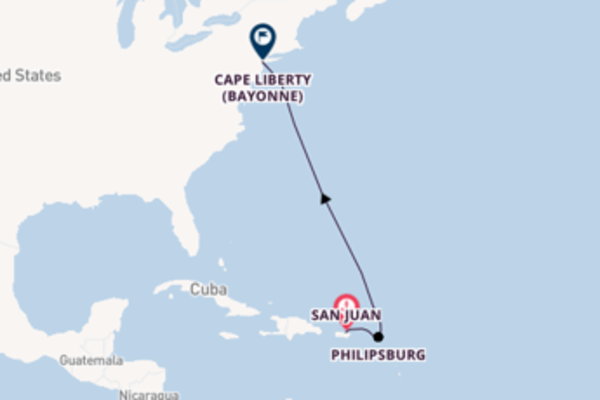 6 day trip to Cape Liberty (Bayonne) from San Juan