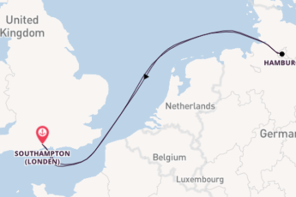 Cruise met Cunard naar het stralende Southampton (Londen)