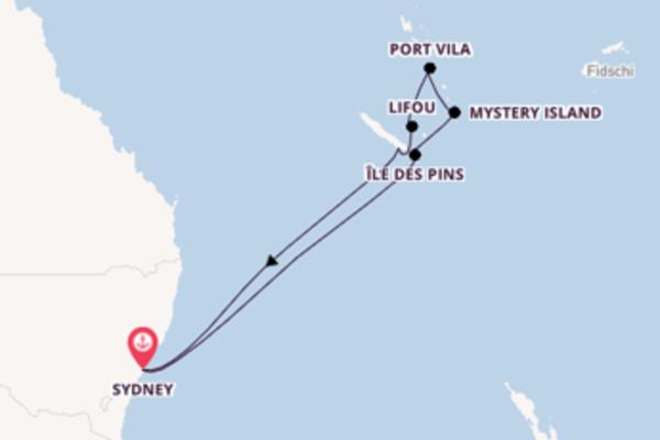In 11 Tagen nach Sydney über Mystery Island