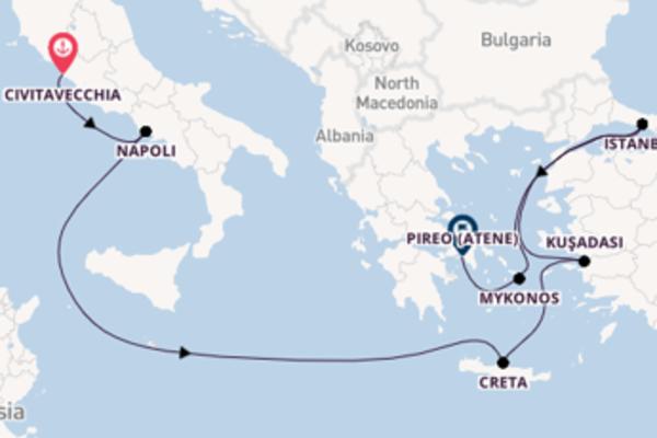 8 giorni di crociera fino a Pireo (Atene)