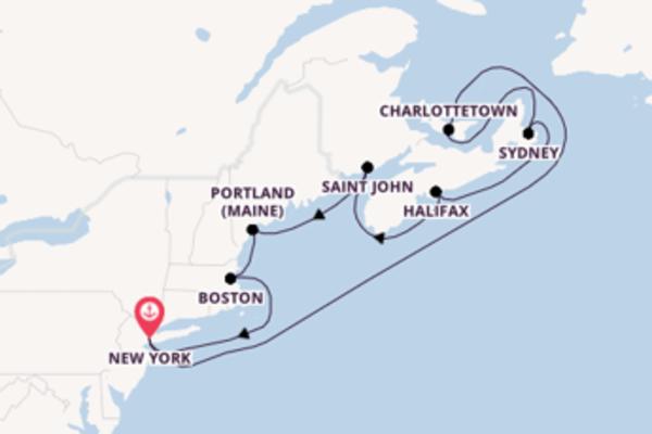 Meravigliosa crociera di 11 giorni verso New York