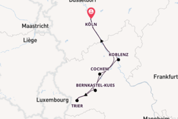 Von Köln über Cochem in 6 Tagen